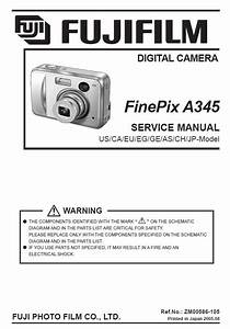 Fujifilm Finepix A345 Fuji Digital Camera Service Repair
