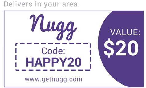 34852 Getnugg Coupon by Nugg Delivery Promo Code Get 20 With Code Happy20