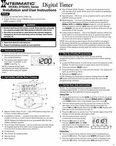 Intermatic T101 Timer Instructions