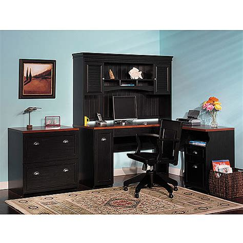 Walmart L Shaped Desk With Hutch by Bush Fairview Collection L Shaped Desk With Hutch And 2