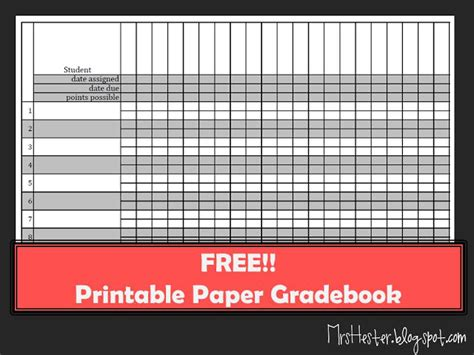 hesters classroom paper gradebook