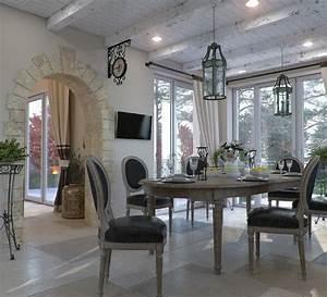 Design salle a manger de style campagne chic et rustique for Meuble salle À manger avec chaise rustique