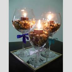 Make A Wine Glass Centerpiece  Find Fun Art Projects To