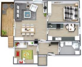 home design 3d 50 3d floor plans lay out designs for 2 bedroom house or apartment