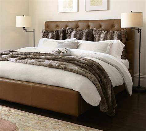 lorraine tufted leather  bed headboards  beds
