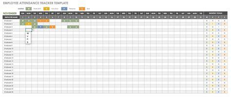 keeping track  employee attendance spreadsheet