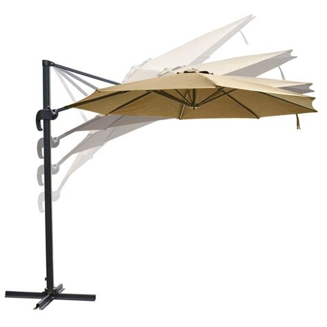 10 hanging roma offset umbrella outdoor patio sun shade