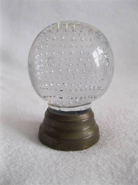 antique vintage clear glass newel brass bed post finial paperweight posts beds and brass