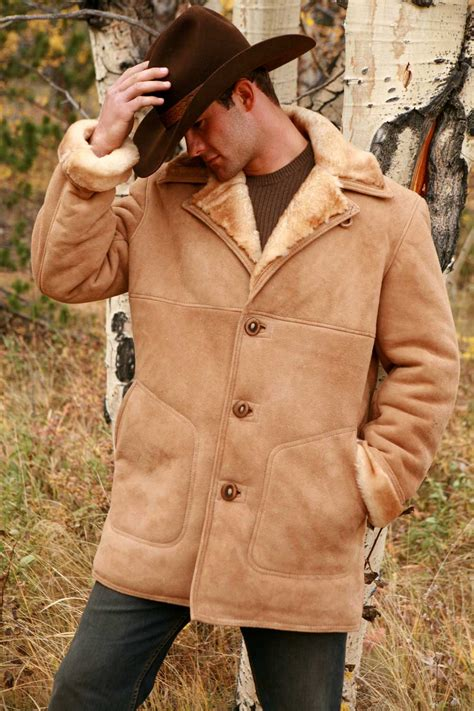 sheepskin coat  men fine shearling apparelthe sheepherder