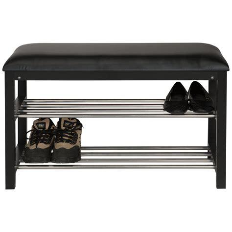 cuisine banc avec rangement pour chaussures noir chaises