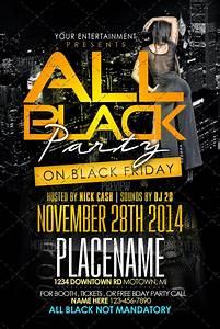 Black Party Flyer Templates