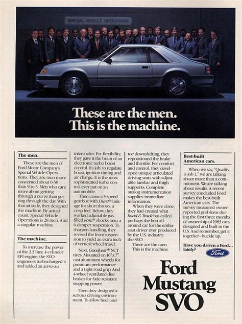 how can i learn more about cars 1984 ford tempo user handbook 1984 ford mustang svo ad the wild child s slightly more powerful herdmate cars
