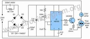 230v Bulb    Lamp Flasher Using 555