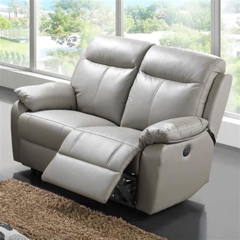 canapé cuir 3 places relax electrique canap 233 relax 233 lectrique 2 places cuir vyctoire achat