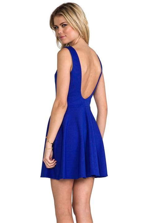 Amanda Uprichard Backless Blue Skater Dress ($171 ...