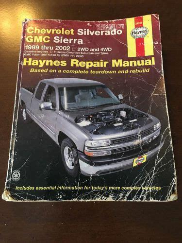 hayes car manuals 2002 chevrolet suburban 2500 lane departure warning sell chevrolet silverado gmc sierra 1999 2001 2wd 4wd haynes repair manual motorcycle in saint