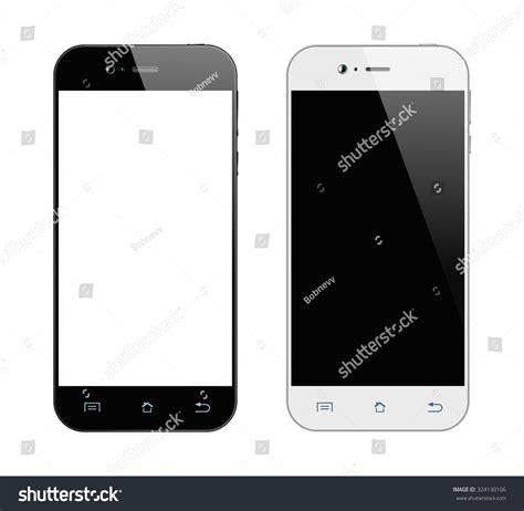 smartphone black and white realistic black white smartphone mobile phone stock vector
