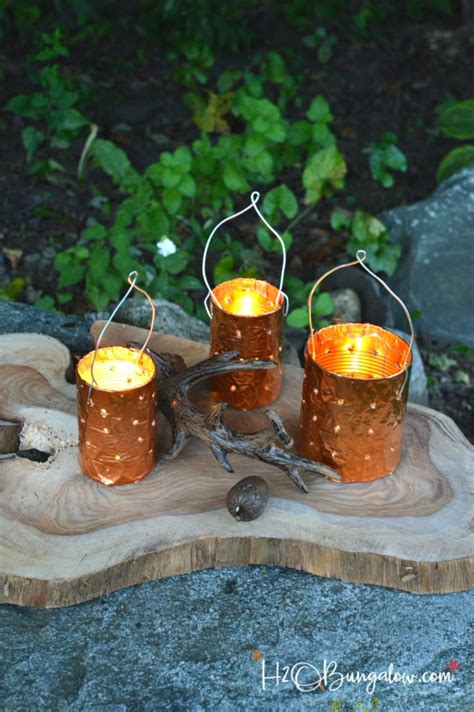 diy copper tin  candle holders hbungalow