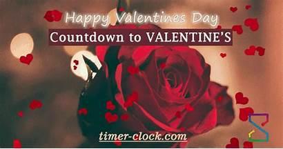 Valentine Countdown Days Many Valentines Until Clock