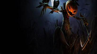 Scarecrow Wallpapers Spooky Fall Forest Backgrounds Halloween