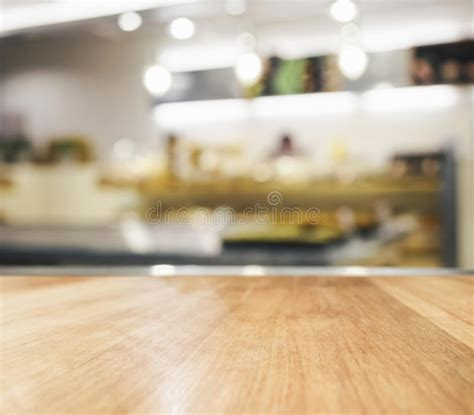 table top  blurred kitchen background stock photo
