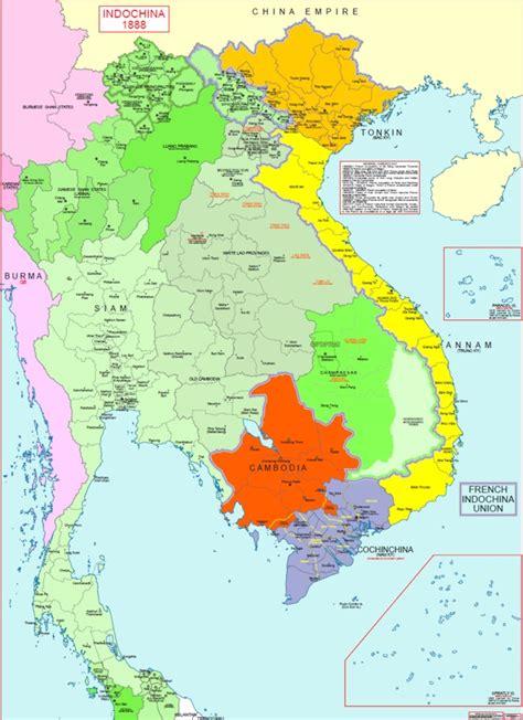 Hisatlas  Map Of Indochina 1888