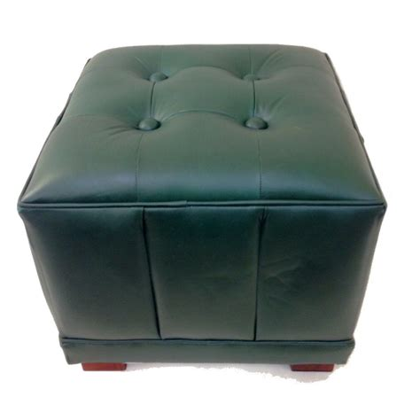 Green Leather Ottoman by Green Leather Square Ottoman Dessau Home W468