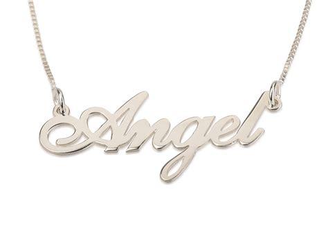 sterling silver cursive  necklace
