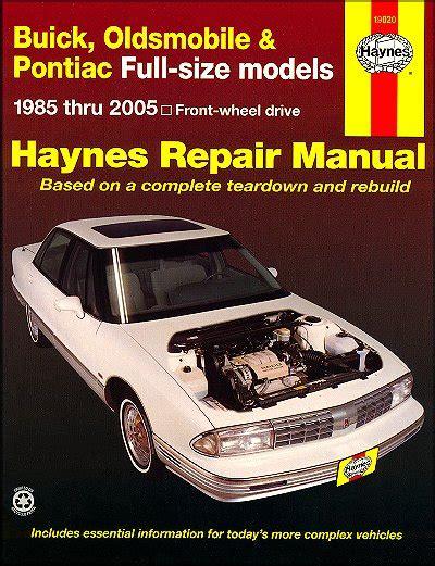 car repair manuals online pdf 1990 pontiac trans sport seat position control buick lesabre electra park avenue delta 88 etc repair manual