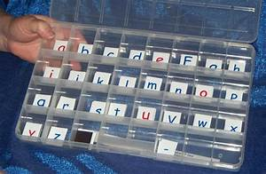 i found magnetic alphabet tiles w no spill storage box With magnetic letter storage box