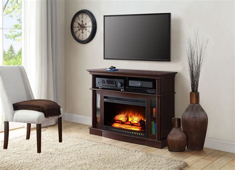 electric fireplace tv stand media console heater