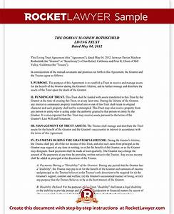 quotsample With sample living trust document