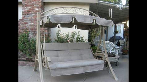 patio swing with canopy costco costco patio swing cushions seat support and canopy