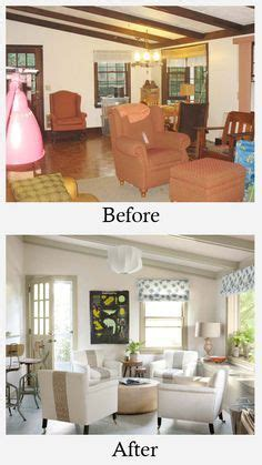 living room makeovers    dark stained
