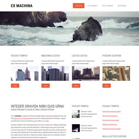 free html templates 50 free responsive html5 and css3 templates
