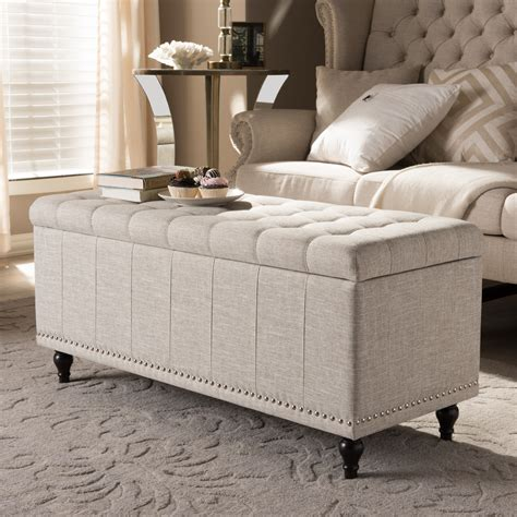Bedroom Upholstered Storage Bench by Wholesale Interiors Baxton Studio Luca Upholstered Storage