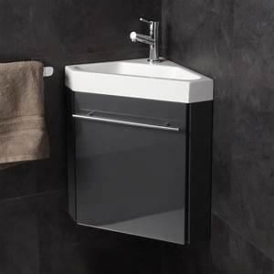 Petit Lave Main D Angle Wc : pack lave mains d 39 angle gris anthracite achat vente ~ Premium-room.com Idées de Décoration