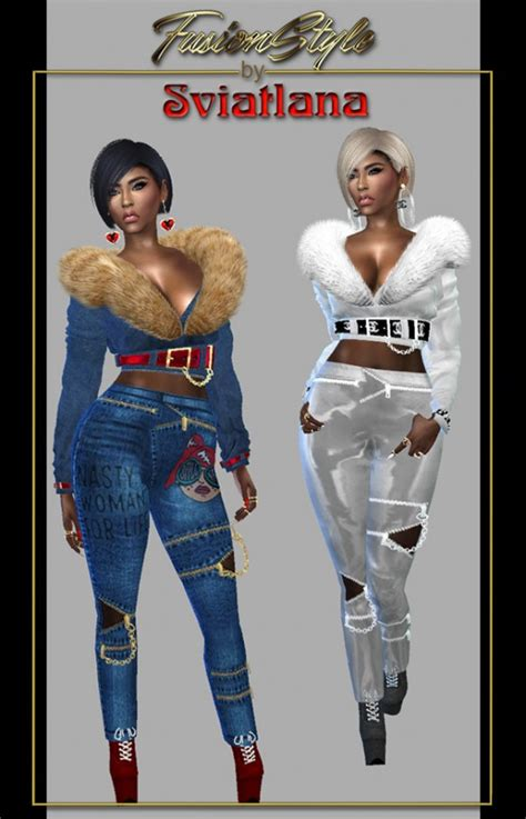 fusion style pants  sviatlana sims  downloads