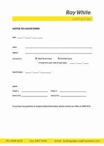 Real Estate Letter Of Intent Template Free Printable Intent To Vacate Letter Template Vacate