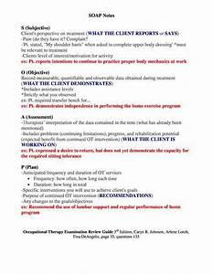 Sample Occupational Therapy Soap Note