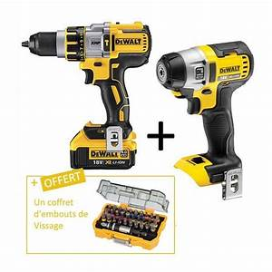 Perceuse Visseuse Percussion 18v : lot dewalt 18v perceuse a percussion xrp 18v 4ah li ion ~ Edinachiropracticcenter.com Idées de Décoration