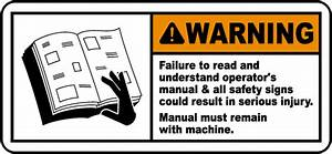 Warning Failure To Read Label By Safetysign Com