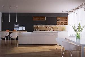 50 modern kitchen designs that use unconventional geometry 1670