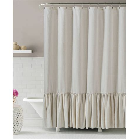 linens shower curtains gabriella linen shower curtain 25 at home