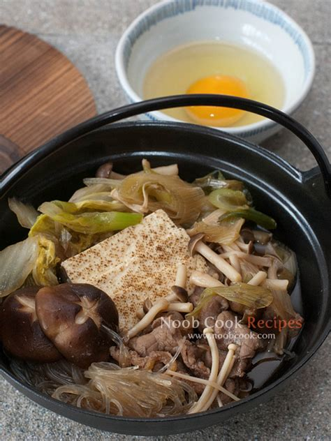 traditional sukiyaki japanese beef pot recipe dishmaps