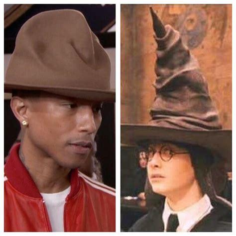 Pharrell Hat Meme - pharrell williams hat at the grammys is now a twitter meme