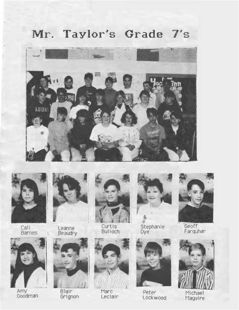 Grade 7 & 8 Yearbook for the 1990 - 1991 School Year
