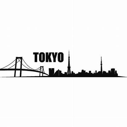 Tokyo Skyline Wall Decal Sticker Skyline1 Ambiance