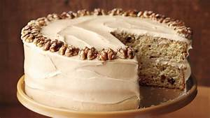 Maple-Walnut Cake with Brown-Sugar Frosting