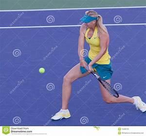 Maria Sharapova At The 2010 BNP Paribas Open Editorial ...